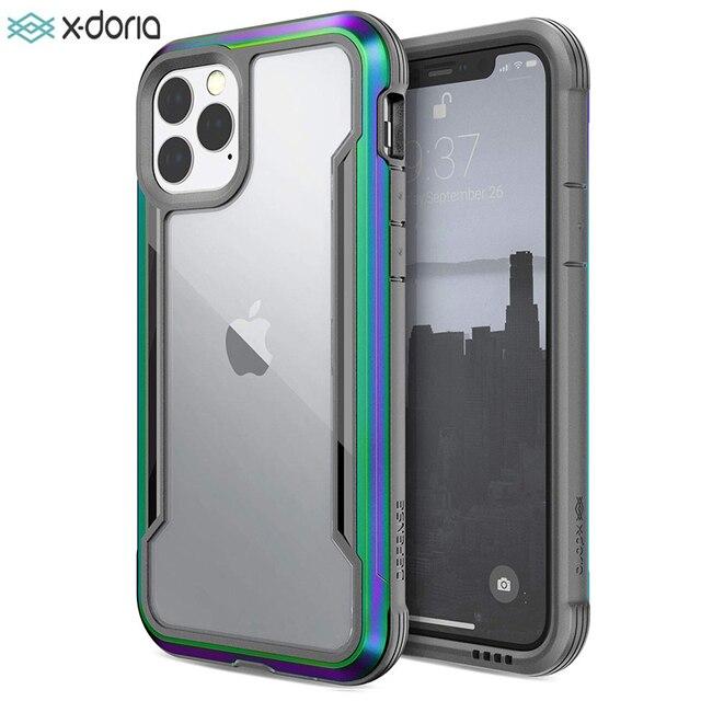 Túi Chống Sốc X Doria Quốc Phòng Che Chắn Ốp Lưng Điện Thoại Iphone 11 Pro Max Quân Sự Cấp Thả Thử Nghiệm Ốp Lưng iPhone 11 Pro Ốp Viền Nhôm