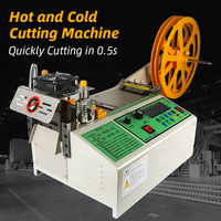 Cloth Belt Cutting Machine 988T Automatic Hot And Cold Belt Zipper Webbing Machine Magic Adhesive Tape Elastic Belt Cutting