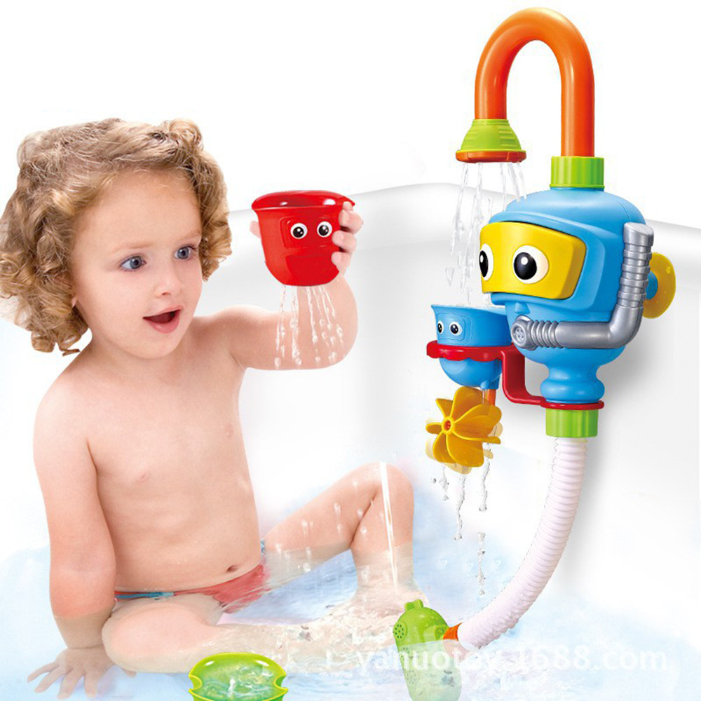 Baby Bath Tool Bathtub Accessories Shower Spray Water Play Game For Bath Bathroom Toy Kids Gift ABS Bath Toy Water Spraying Toys