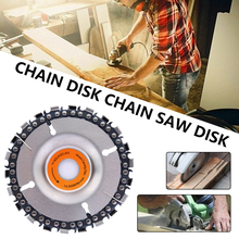 Chainsaw Disc Grinder with Chainsaw Disc Circular Saw Blade Woodworking Cutting Wood Slotted Cutting Blade