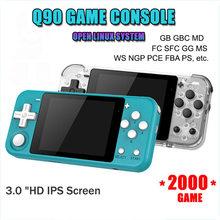 Q90 retro console de jogos hd ips tela gameboy handheld console embutido 12 simulador 2000 estilo 3d jogos ps1 game console