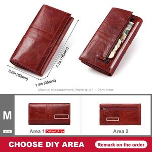 Image 4 - Free Engraving Name Female Wallet Zipper Purses Long vallet Clutch Coin Purses Leather walet for Women Phone Bag Card Holder
