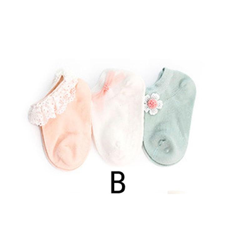 3 Cặp Mới Chống Trơn Trượt Vớ Bé Sơ Sinh Mùa Thu Đông Cotton Trẻ Em Sàn Thuyền Tất Chân Ren sock
