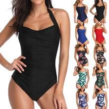 2020 сексуальный купальный костюм, женская одежда для плавания, Цельный боди, Монокини пуш-ап, купальный костюм с лямкой через шею, купальный к...