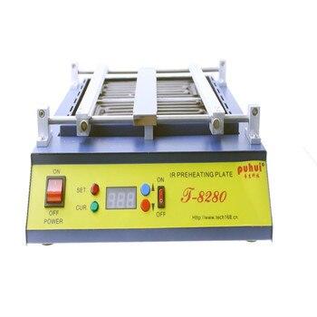 цена на 220V or 110V Puhui T8280 PCB Preheater IR Preheating Plate T-8280 IR-Preheating Oven 0-450degree Celsius Solder Repair