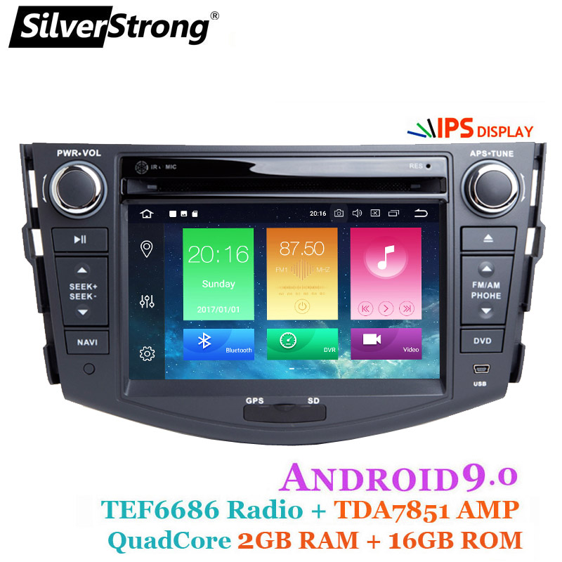 SilverStrong 2din Car Android9 0 Car DVD Player for Toyota Rav4 RAV 4 Audio Video Auto