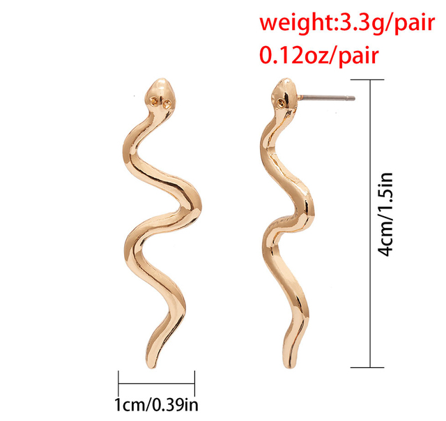 Youvanic Punk Long Snake Earrings Gold Color Personality Stud Earings For Women Vintage Animal Brincos Female.jpg 640x640 - Youvanic Punk Long Snake Earrings Gold Color Personality Stud Earings For Women Vintage Animal Brincos Female Fashion Jewelry