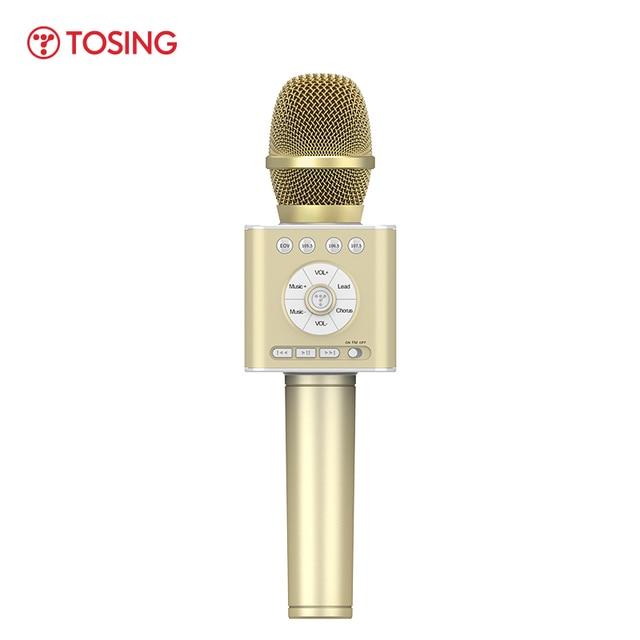 TOSING altavoz Q12 con micrófono para Karaoke, para coche, KTV, coro, fiesta, regalo de Navidad, Bluetooth, reproductor USB