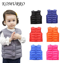 Kids Baby Coat Vest Outwear Jacket Boys Light Warm Children's Waistcoats For Boy Girl Cotton Winter Autumn Toddler Coat Clothes недорого