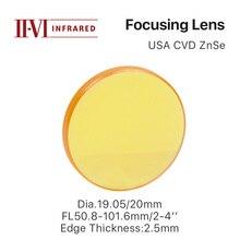 """Cloudray lentille de mise au point II VI ZnSe DIa. Pour Machine de découpe et gravure avec Laser CO2, 19.05mm 20mm FL 50.8 101.6mm 2 4"""""""