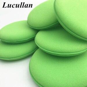 Image 5 - Lucullan 10ピース/ロット高密度グリーンワックスがけと研磨泡パッド自動アプリケータースポンジ