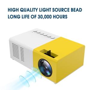 Image 4 - Taşınabilir J9 YG 300 Mini projektör 1080P desteği 1080P AV USB SD kart USB Mini ev projektör Mini cep beamer