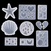 Bricolage cristal résine époxy coeur chat griffe Cabochon Silicone moules bricolage fleurs séchées bijoux pendentif moules UV résine moule
