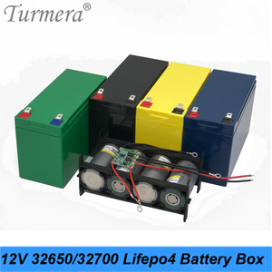 Turmera 32650 32700 Lifepo4 Battery Storage Box with 1x4 Bracket for 12V 7Ah Uninterrupted Power Supply and E-bike Battery Use A