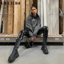 Wedges-Shoes Mid-Calf-Boots RIBETRINI Cool Design Autumn Women Luxury Brand Platform