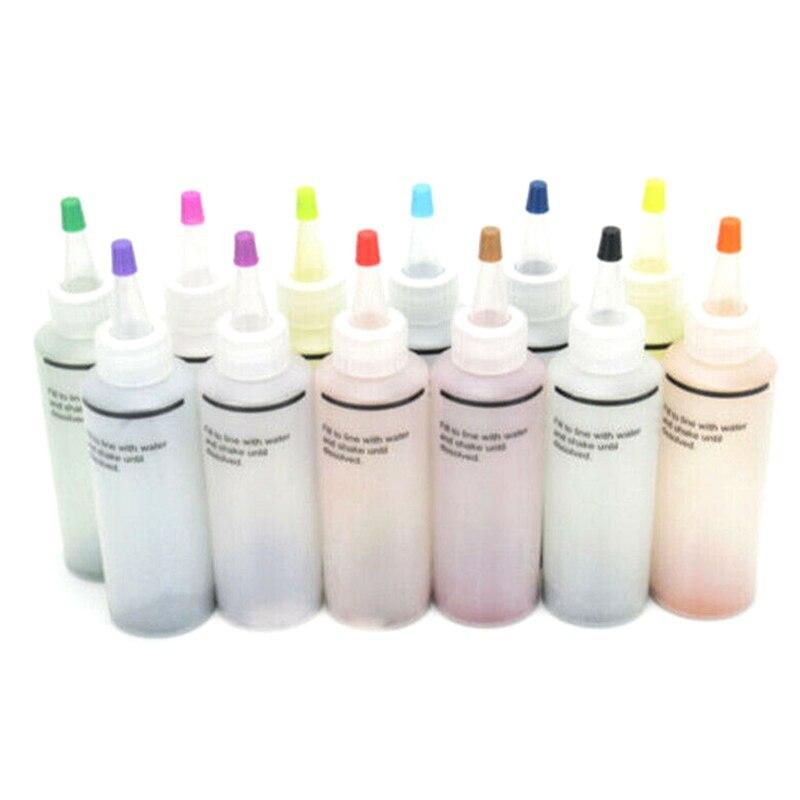 12 Pcs Tie Dye Kit Non-toxic DIY Garment Graffiti Fabric Step Textile Coating BJStore