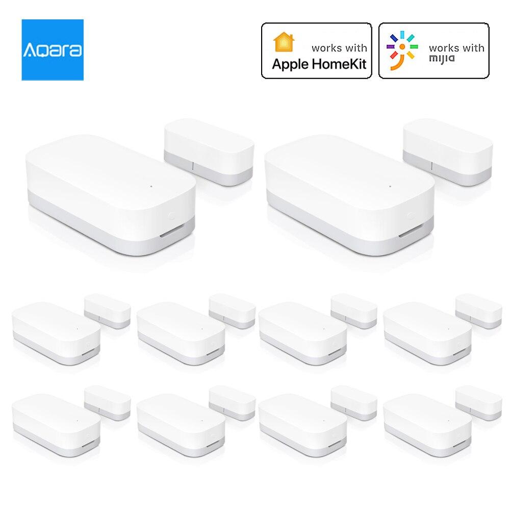 Aqara-capteur douverture de porte/fenêtre intelligent, 10 pièces, Zigbee, connexion sans fil, fonctionne avec application Mi Home pour maison connectée Android/IOS