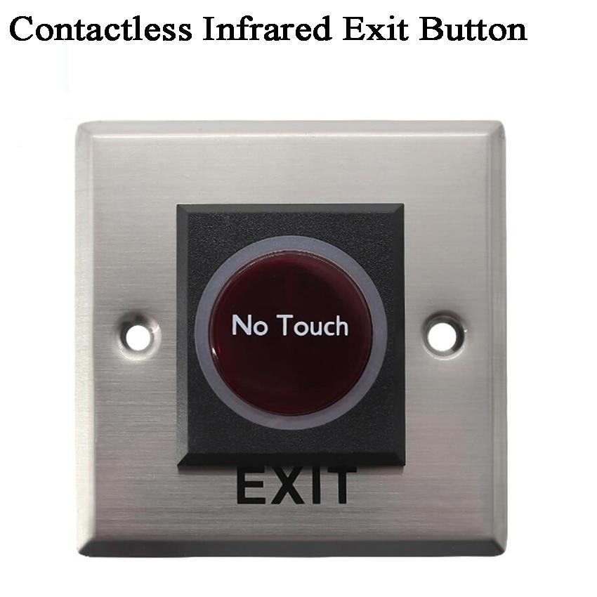 12V Infrared Door Switch/IR Door Sensor With Exit-button Contactless Door Opener For Access Control System/factory/garage/Office