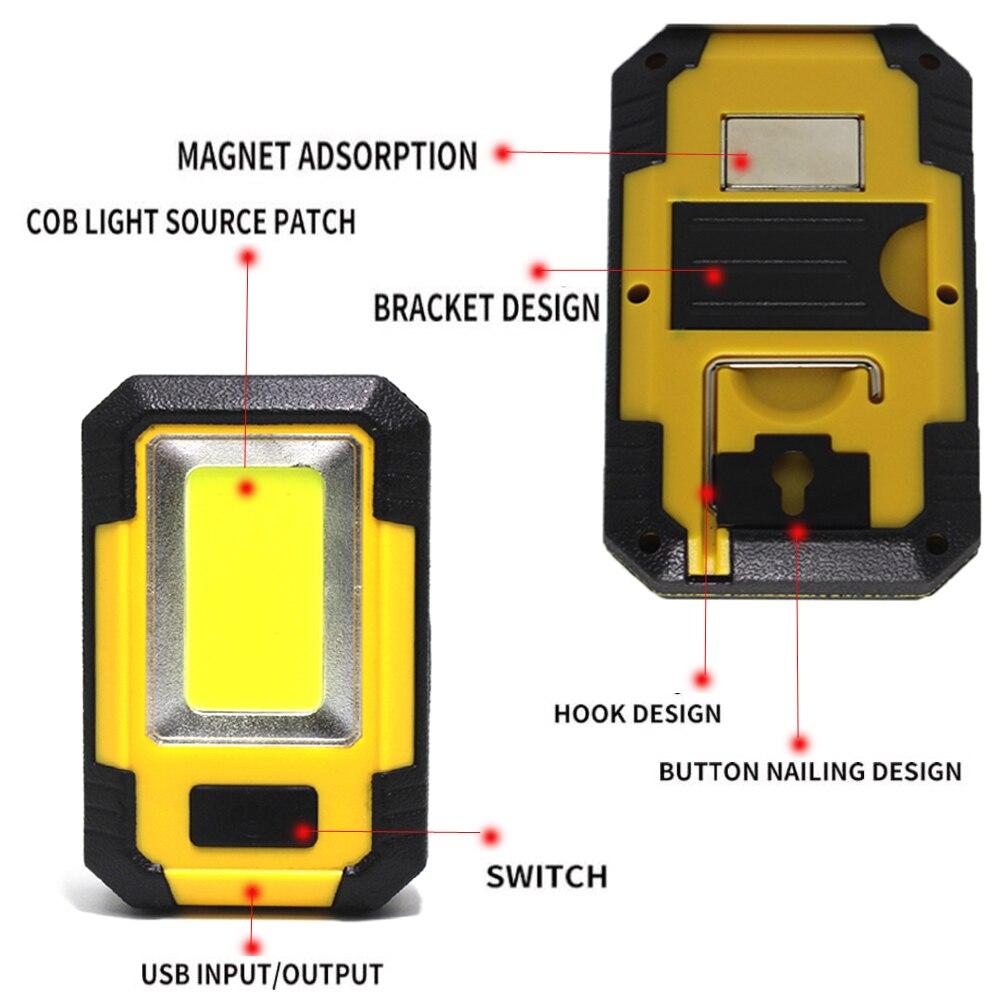 30 Вт портативный светодиодный светильник USB Перезаряжаемый рабочий светильник 3 режима ремонт фонарика светильник с магнитной базой ручной рабочий светильник