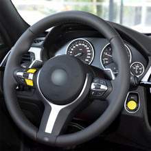 цена на Yellow Steering Wheel M1 M2 Switch Replace Button + Engine Start Stop Switch Button for BMW M2 M3 M4 M5 M6 X5M X6M M Sport