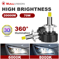 2 шт. H7 H4 360 светодиодный головной светильник s лампы H11 H8 9005 HB3 9006 HB4 20000LM 6000 К 8000 супер яркий светодиодный чип CSP 12V авто светодиодный туман свети...