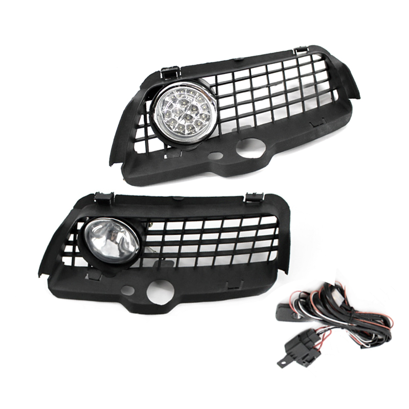 2pcs Fog <font><b>Light</b></font> Driving Lamp Grille with Connecting Wire Cable for Volkswagen for <font><b>VW</b></font> <font><b>MK3</b></font> <font><b>Golf</b></font> for Jetta 1992-1998 LED/halogen image