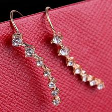 1 Pair Women Shiny Well-matched Korean Style Seven Rhinestone-studded Big Dipper Zircon Earrings Ear StudsNice(China)