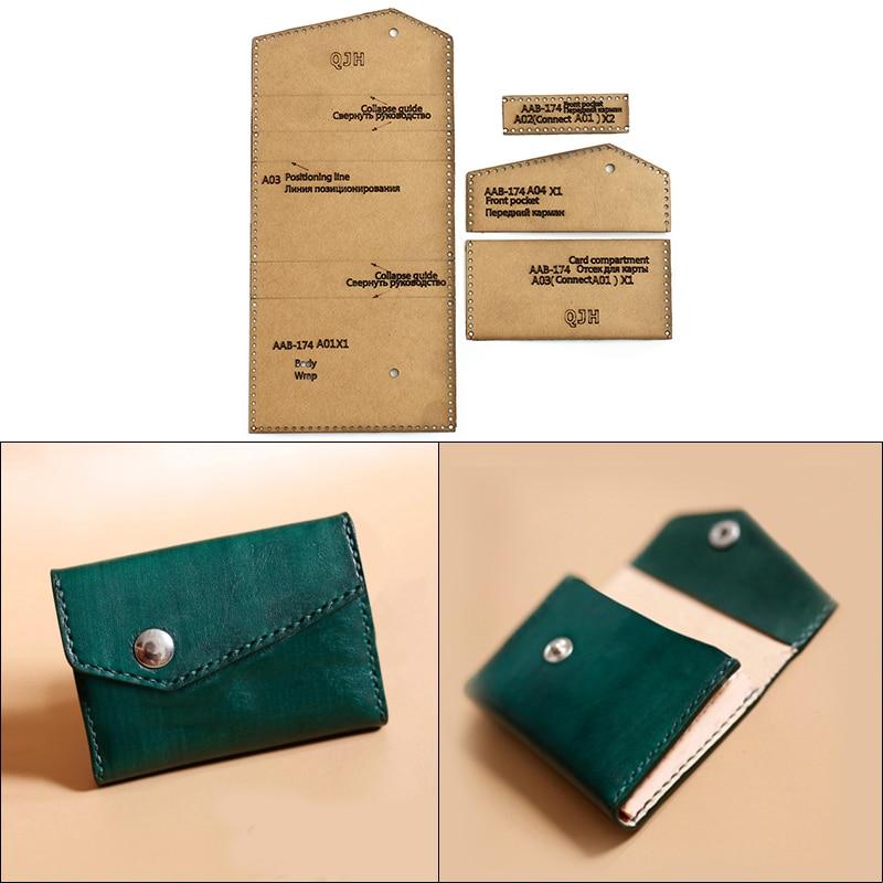 DIY Handmade Card Business Card Wallet Kraft Paper Template Handmade Leather Craft Bag Template 10*6.5*2cm