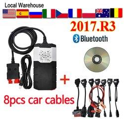 OBD 2017 R3 VCI vd ds150e Bluetooth 2017.R1 delphis diagnostic repair tool obd2 Scanner send with Case DS150E Car Diagnostic