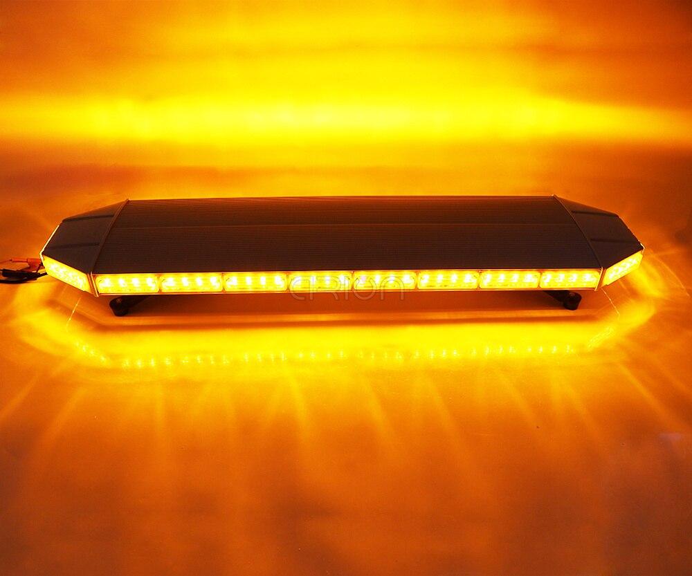"""11/"""" LED Strobe Light Bar Warn Security Emergency Beacon Flash Amber/&White 12//24V"""