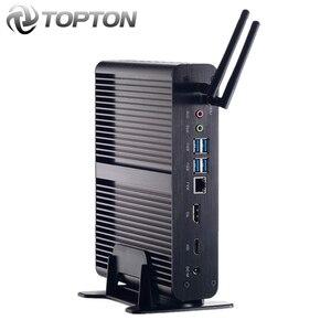 Image 1 - 2020 Top bez wentylatora Mini komputer Intel Core i7 10510U i7 8565U i5 8265U minikomputer 2 * DDR4 M.2 + Msata + 2.5 SATA 4K HTPC Nettop HDMI DP