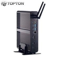 """2020 أعلى بدون مروحة جهاز كمبيوتر صغير إنتل الأساسية i7 10510U i7 8565U i5 8265U كمبيوتر مصغر 2 * DDR4 M.2 + Msata + 2.5 """"sata 4K HTPC بناء Nettop HDMI موانئ دبي"""