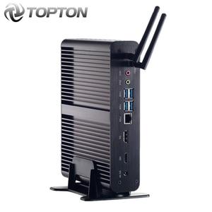 "Image 1 - 2020 أعلى بدون مروحة جهاز كمبيوتر صغير إنتل الأساسية i7 10510U i7 8565U i5 8265U كمبيوتر مصغر 2 * DDR4 M.2 + Msata + 2.5 ""sata 4K HTPC بناء Nettop HDMI موانئ دبي"