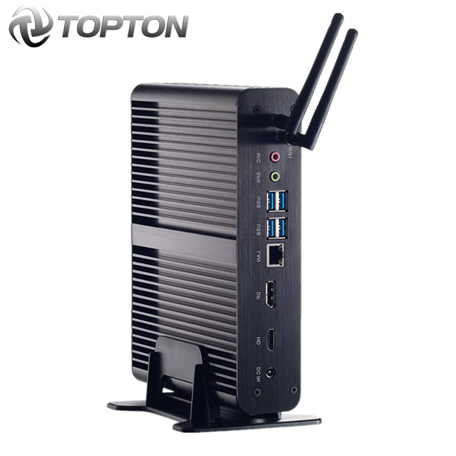 Мини ПК без вентилятора, Intel Core i7 10510U i7 8565U i5 8265U, 2 * DDR4 M.2 + Msata + 2020 SATA 4K HTPC Nettop HDMI DP, 2,5