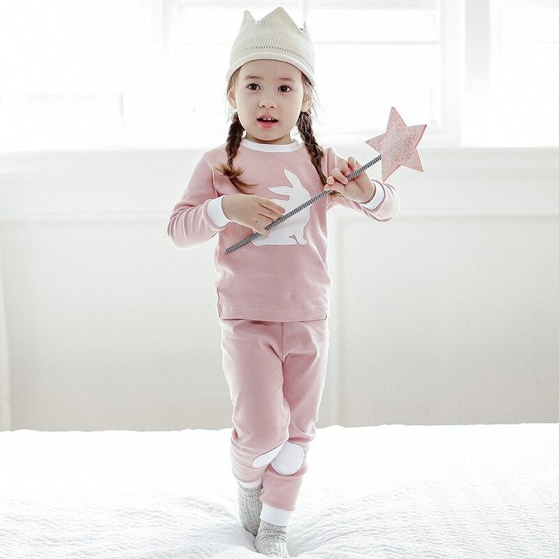 Vaenait Origional Korean-style CHILDREN'S Suit Pure Cotton Long Sleeve Cartoon Baby Girls Pajamas Autumn And Winter New Style Tr