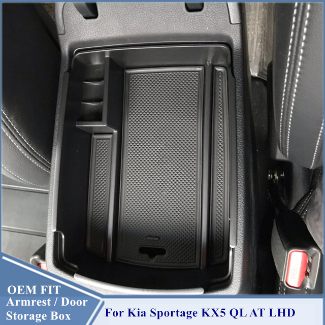 Armrest Storage Box For Kia Sportage KX5 QL AT LHD 2016   2020 Center Console Organzier Stowing Tidying Storage Holder Tray