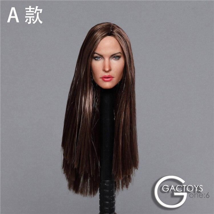 "1//6 Female Head Sculpt BLACK Hair For 12/"" PHICEN Hot Toys Female Figure U.S.A."