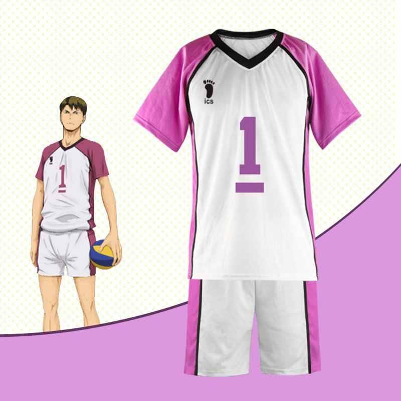 Shiratorizawa Academy Wakatoshi No.1 volleyball Uniform Cosplay Kostüm Haikyuu!