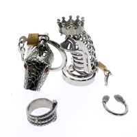 Stainless Steel Snake Cock Cage Kits Male Belt Penis Ring Cock Ring Chastity Cage Penis Rings Chastity Male Sex Toys for Couple