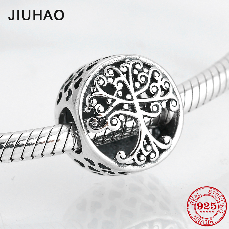 Round shape 925 Sterling Silver family is where love grows DIY fine beads Fit Original Pandora Charm Bracelet Jewelry making(China)