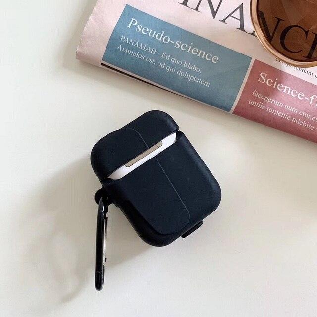 3D Silicone Vecchia Scuola Nero Classico Beeper Senza Fili di Bluetooth Del Trasduttore Auricolare Airpods Casella di Ricarica Caso di Acquistare Uno Ottenere Anti-Perso anello