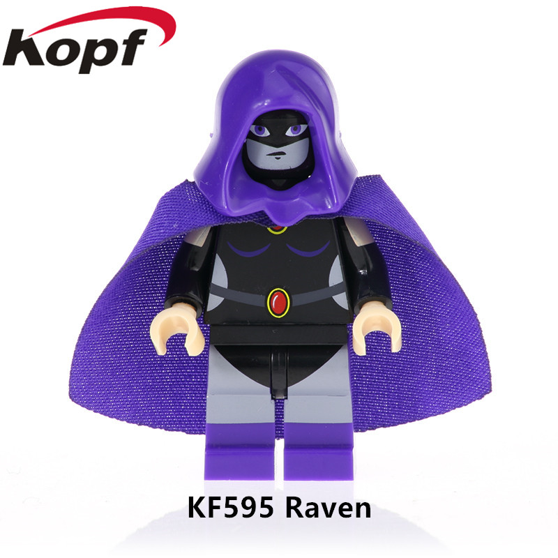 Image 2 - 5Pcs/Set KF6049 Building Blocks Teen Titans Series Figures Robin Raven Cyborg Beast Boy Model Action Bricks For Children Toys-in Blocks from Toys & Hobbies