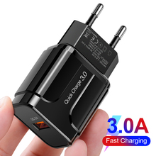 Quick Charge 3.0 Charger 18W QC3.0 Wall Mobile Phone Charger For Samsung A50 A40 A30 M30 A3 A5 A7 2017 S8 S9 S10 PLUS Charger
