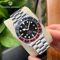 PAGANI Design-Reloj mecánico automático para Hombre, de acero inoxidable, zafiro, 40mm, resistente al agua, 2021 M, nuevo, 200