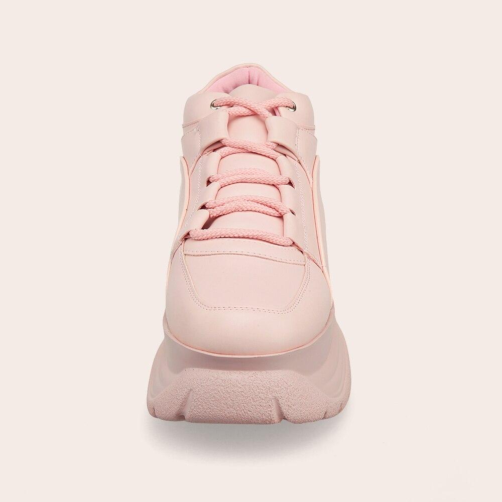2019 marka różowa platforma trampki wiosna i jesień Lady