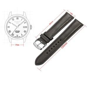 Image 2 - Isap 18mm 19mm 20mm 21mm 22mm pulseira de relógio de couro genuíno pulseira de relógio com rosa ouro pino fivela para tissot omega iwc
