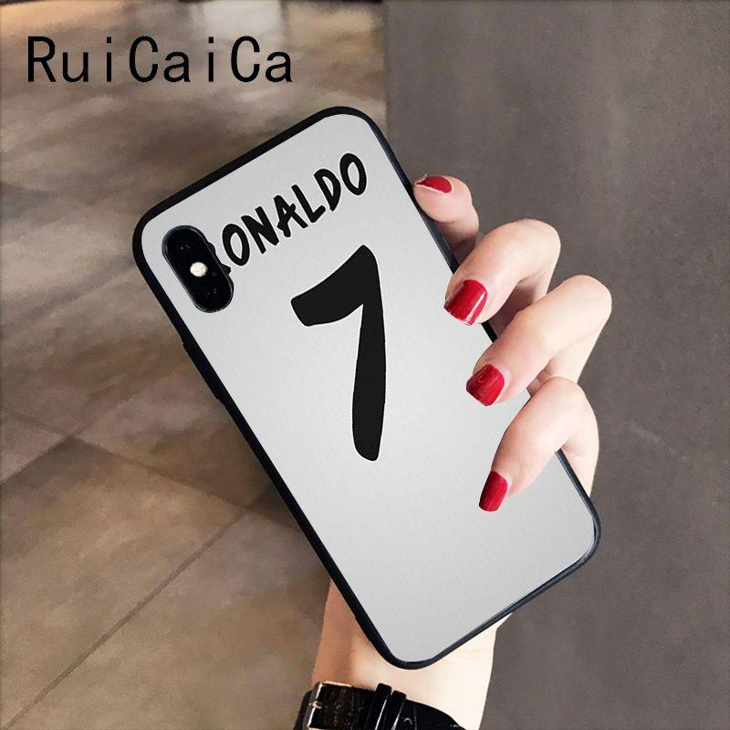 Ruicaica Cr7 Logo Cristiano Ronaldo 7 Football Diy Protector Phone Case For Iphone 8 7 6 6s 6plus X Xs Max 5 5s Se Xr 10 Cases Aliexpress