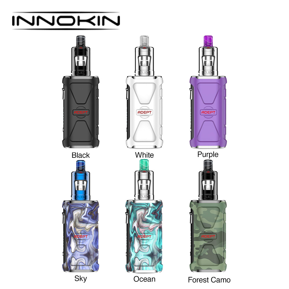 Original Innokin Adept Starter Kit With 3000mAh Battery & Zlide Tank 2ml & Plex3D Mesh Coil Vape Kit  Innokin Adept Vs Drag 2