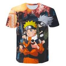 Konoha T-shirt Printing Narut-O-Neck short-sleeved Boy Girl Tops Japan Anime Harajuku Street Fashion t shirt Children's Clothing