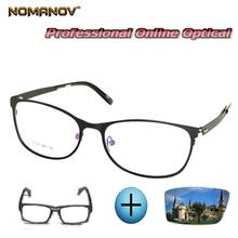 Custom Made Prescription Glasses Optical Photochromic Myopia Reading Ultralight Delicate Hinge Frame Men Women